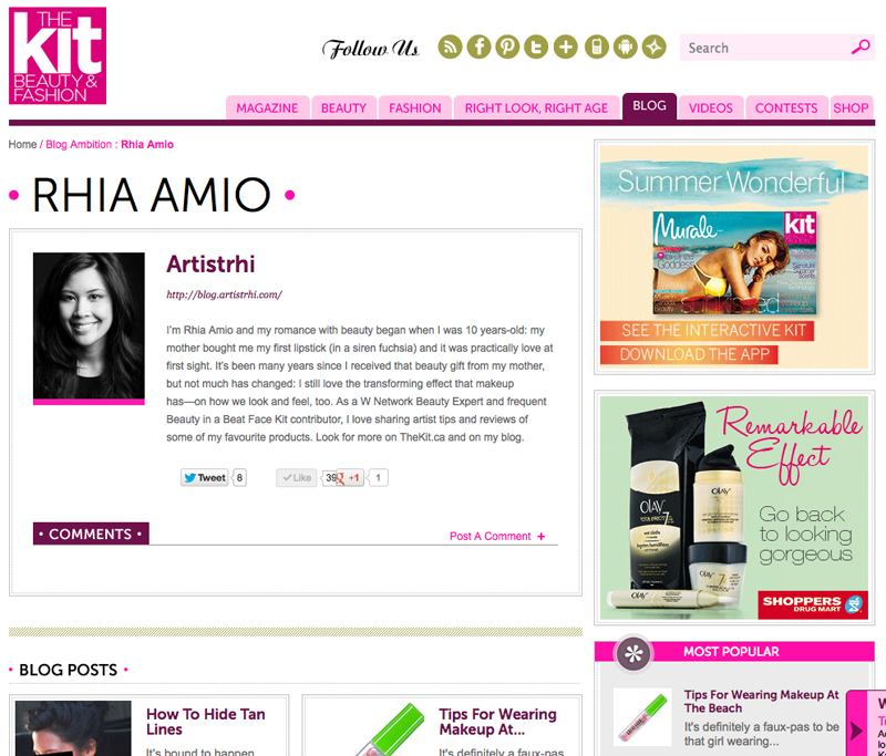 Rhia Amio Make-up Artist | Featured Beauty Blogger on The Kit