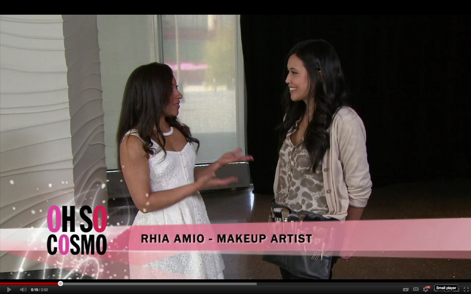 Rhia Amio Make-up Artist | TV Appearance on Oh So Cosmo!