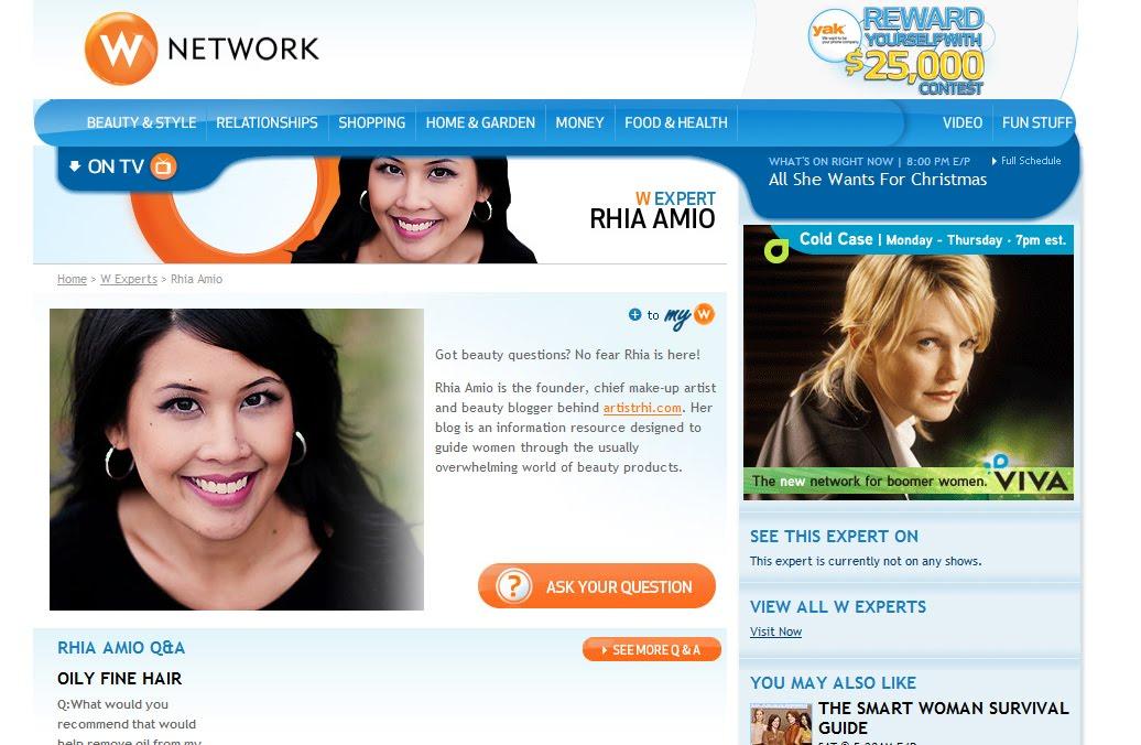 Rhia Amio, W Network Expert www.wnetwork.com